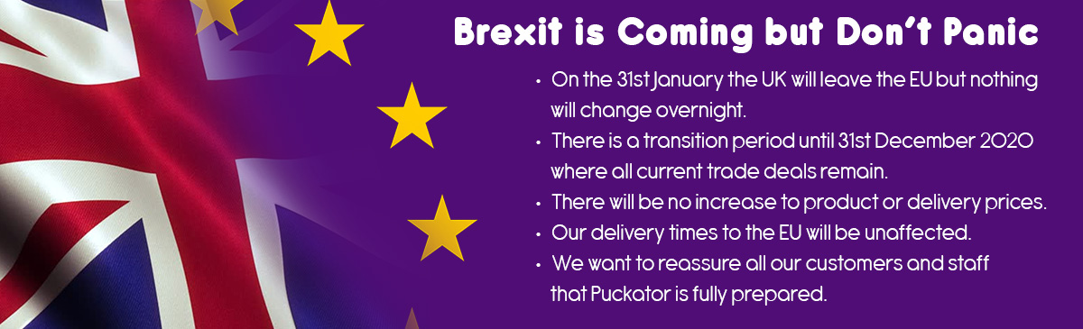 Brexit Update - No Disruption to Orders after the 31st January 2020