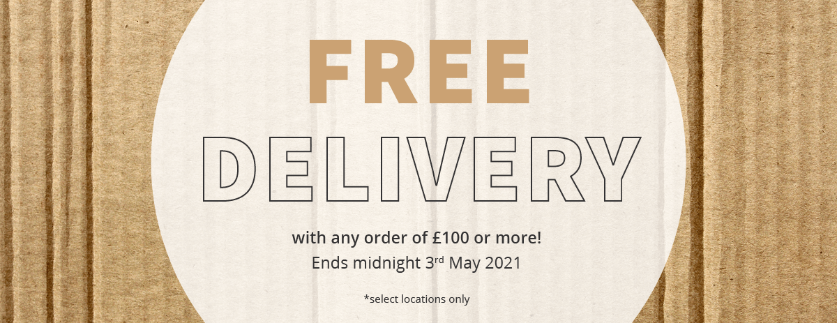 Free Delivery - Extended Until 03/05/2021