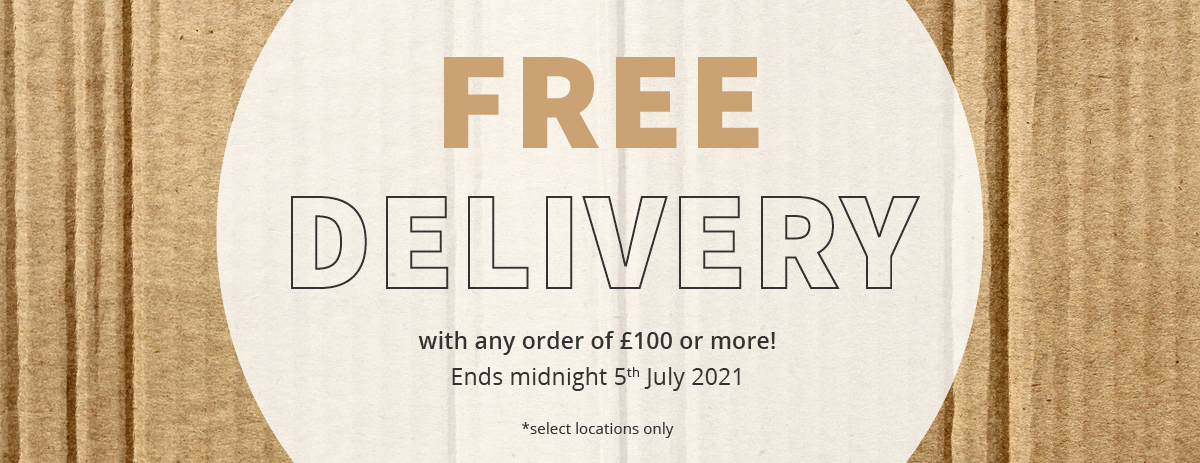 Free Delivery - Extended Until 05/07/2021