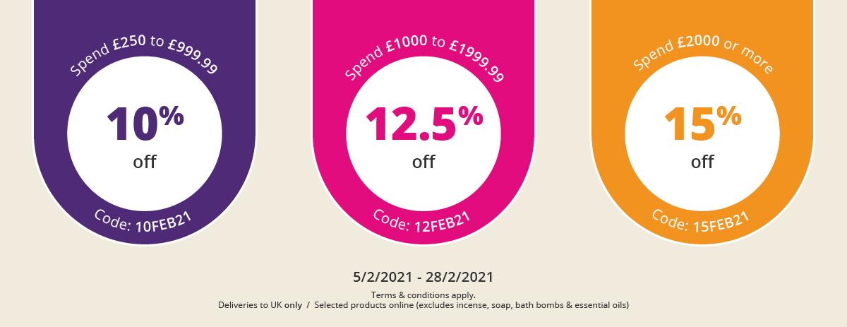 Discount Offer on Selected Lines for Delivery to the UK
